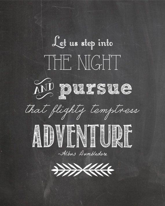 Harry Potter Dumbledore Quote Adventure by ChelseaPrintables ...