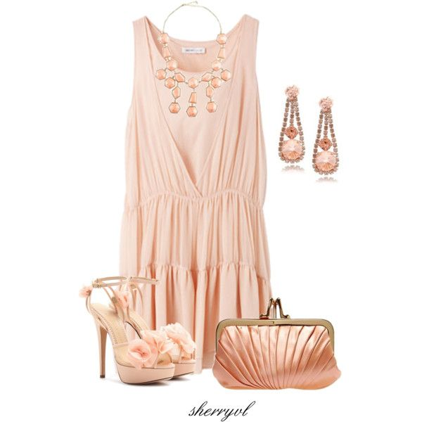 """""""Just Peachy"""" by sherryvl on Polyvore"""