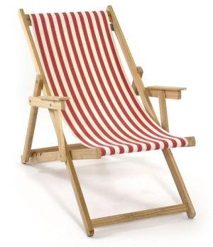Klappliegestuhl selber bauen  Liegestuhl rot-weiß Strandstuhl gestreift Holz | dreizehnnullacht ...