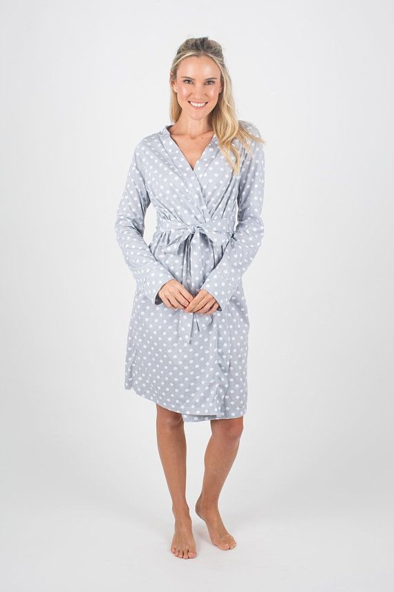 3 PC Labor Kit -Lisa Gray Dotted Maternity Labor Delivery Hospital ...