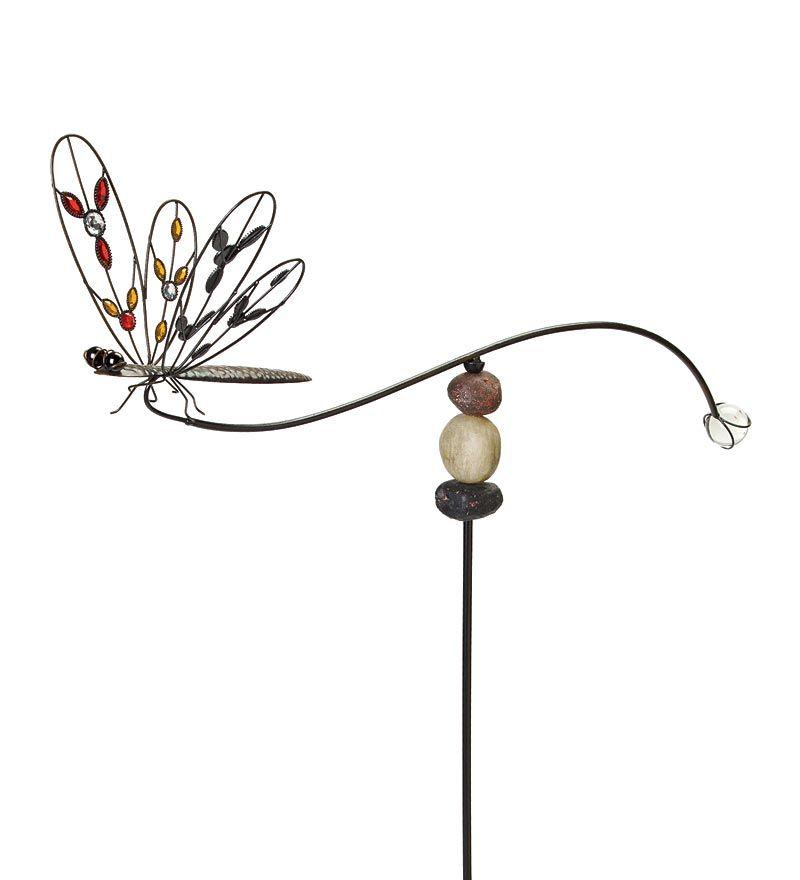 Charming Poised Metal #Dragonfly Garden Balancer