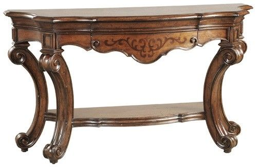 Ambella Home Hillcrest Scrolled Leg Console Table