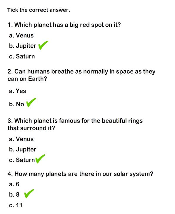 Solar System Worksheet 2 - science Worksheets - grade-1