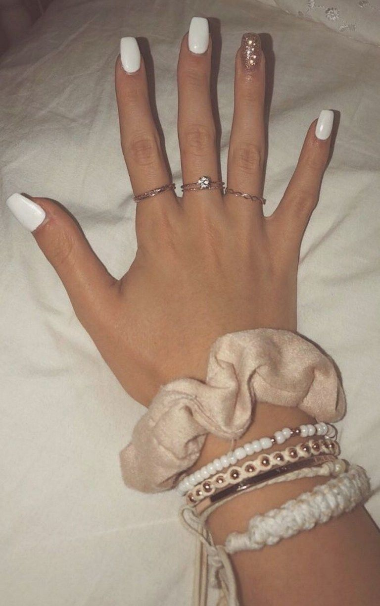 ✔ 60 best eye catching and trendy coffin acrylic nails design 1