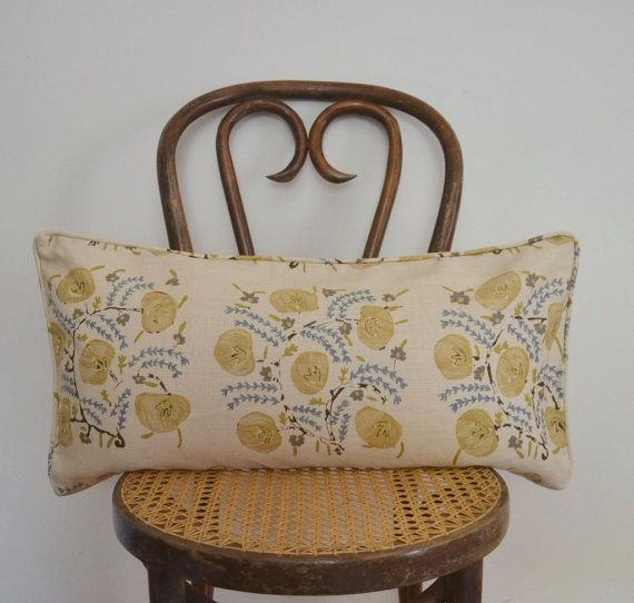 228 00 This Listing Is For One 12 X 24 Lumbar Pillow Cover In Penny Morrisons Pasha With A Coordinating Linen Rever Lumbar Pillow Cover Pillow Covers Pillows