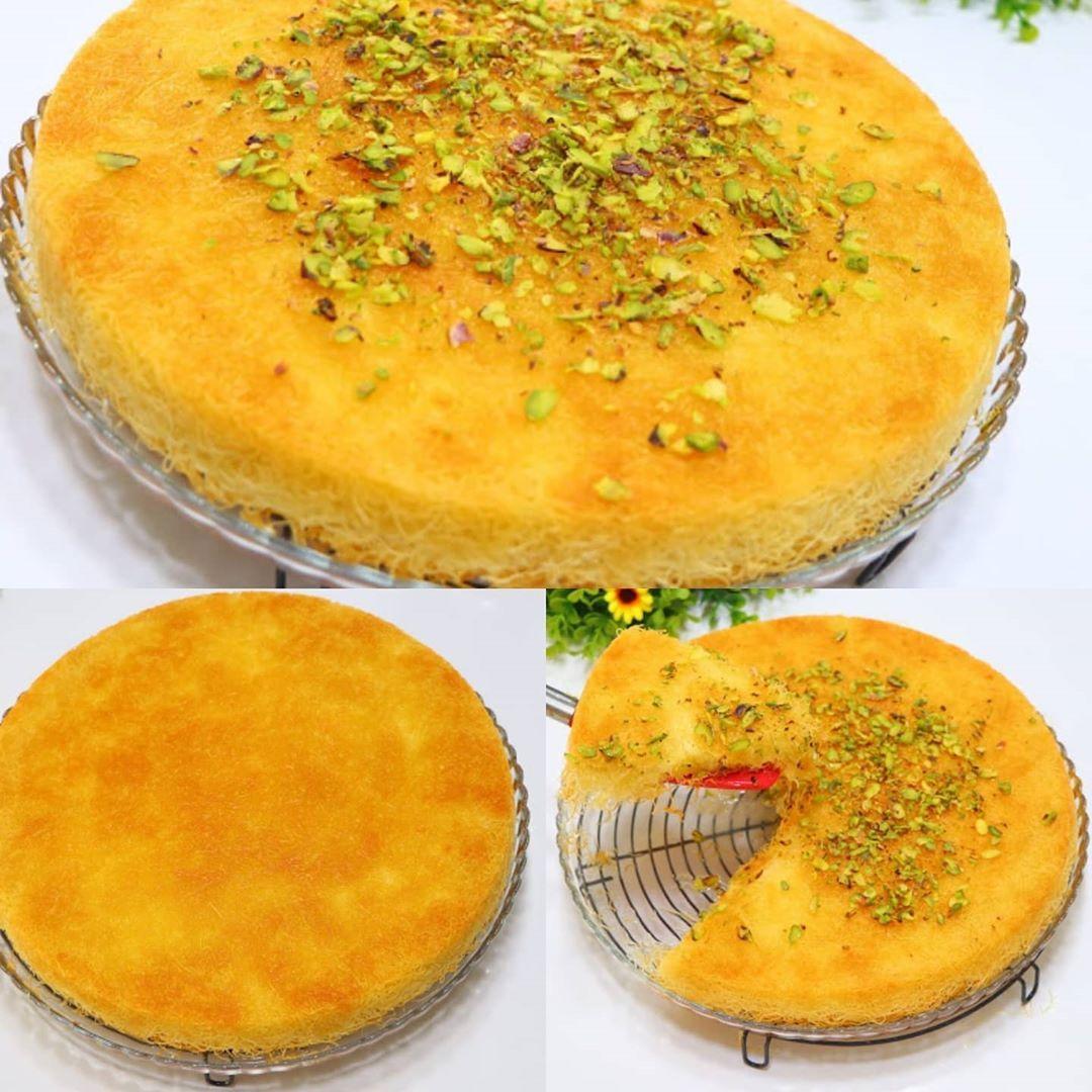 وصفاتي الخاصة للطبخ رباح محمد On Instagram كنافة بالقشطة والجبن باسهل واطيب طريقة الطعم لا يقاوم الطريقة الأصلية لعمل الكنافة مع رباح Food Yummy Food Cheese
