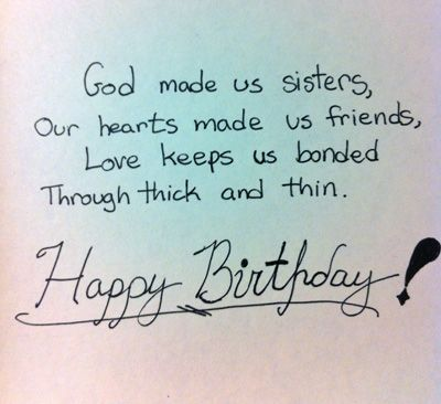 Happy Birthday Wishes Sister Thoughts For Younger Quotes Godly