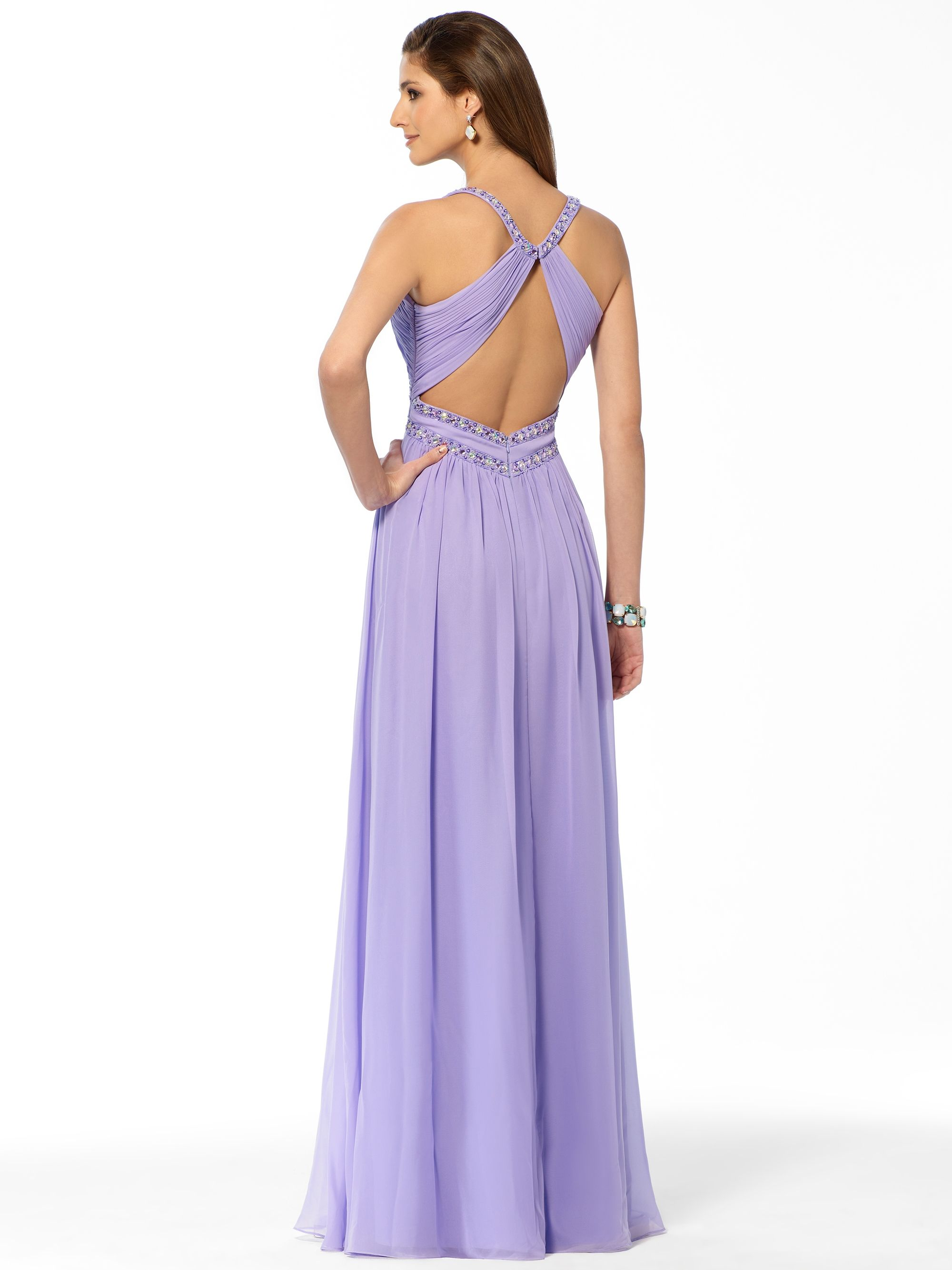 PROM | Lilac Sequin Trim Halter Gown | Caché | hola | Pinterest | Hola