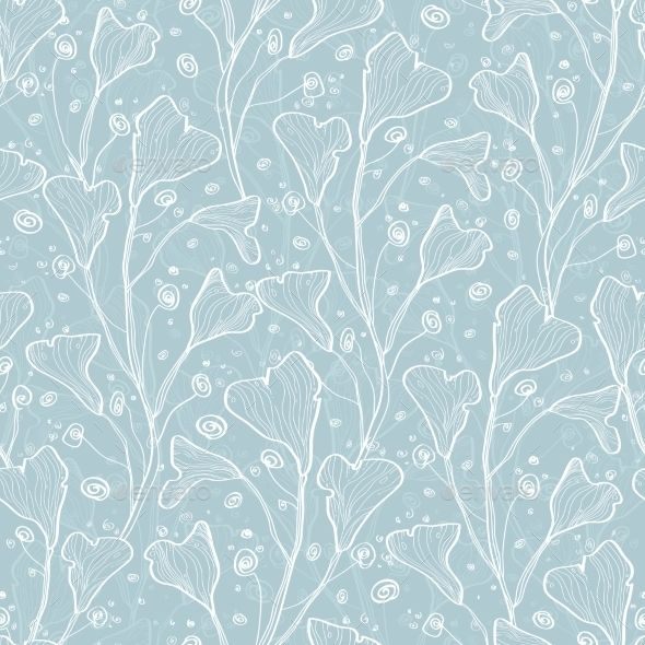 Best Vector Silver Leaves Texture Seamless Pattern Leaf 640 x 480