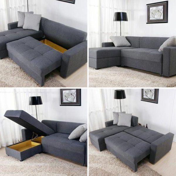Kleine Wohnung Einrichten Funktionales Sofa
