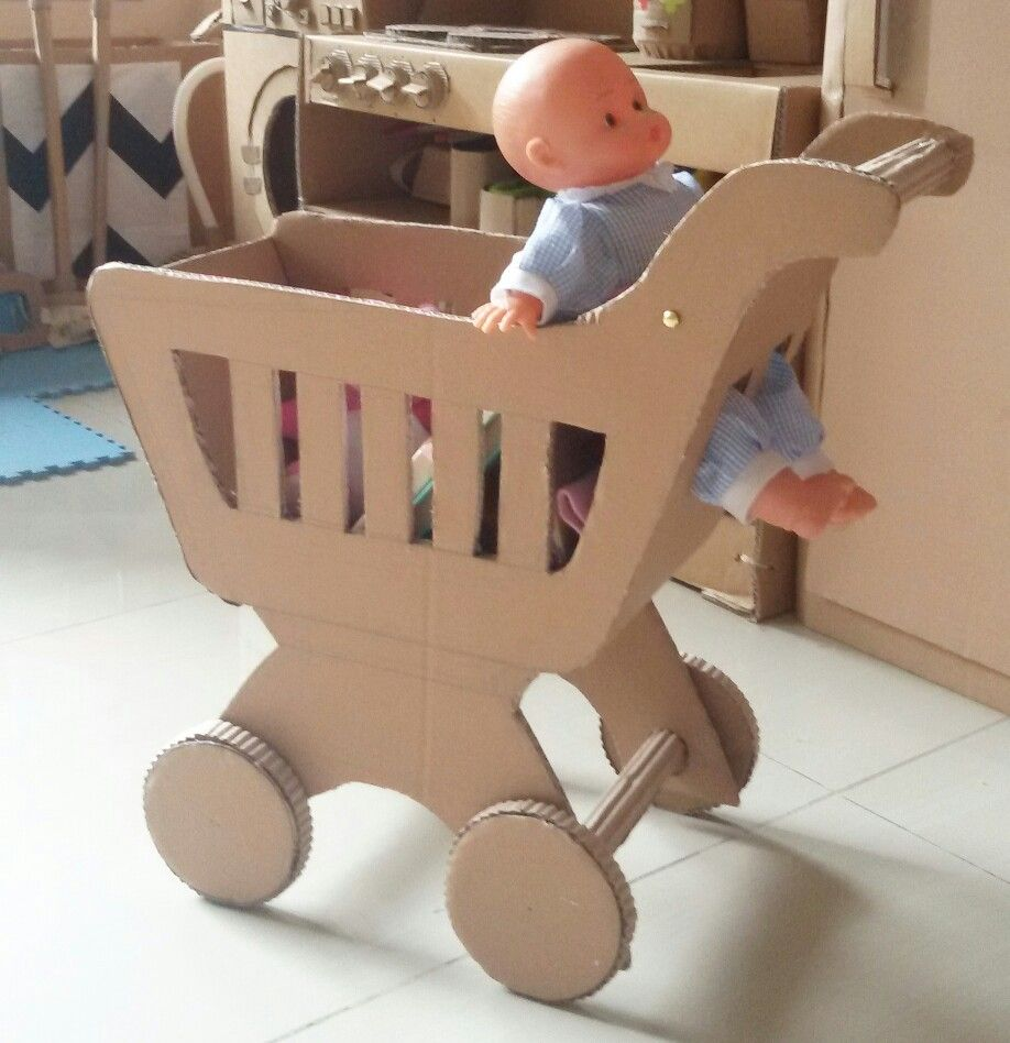 cardboard toy shopping trolley diy toys pinterest toy diy
