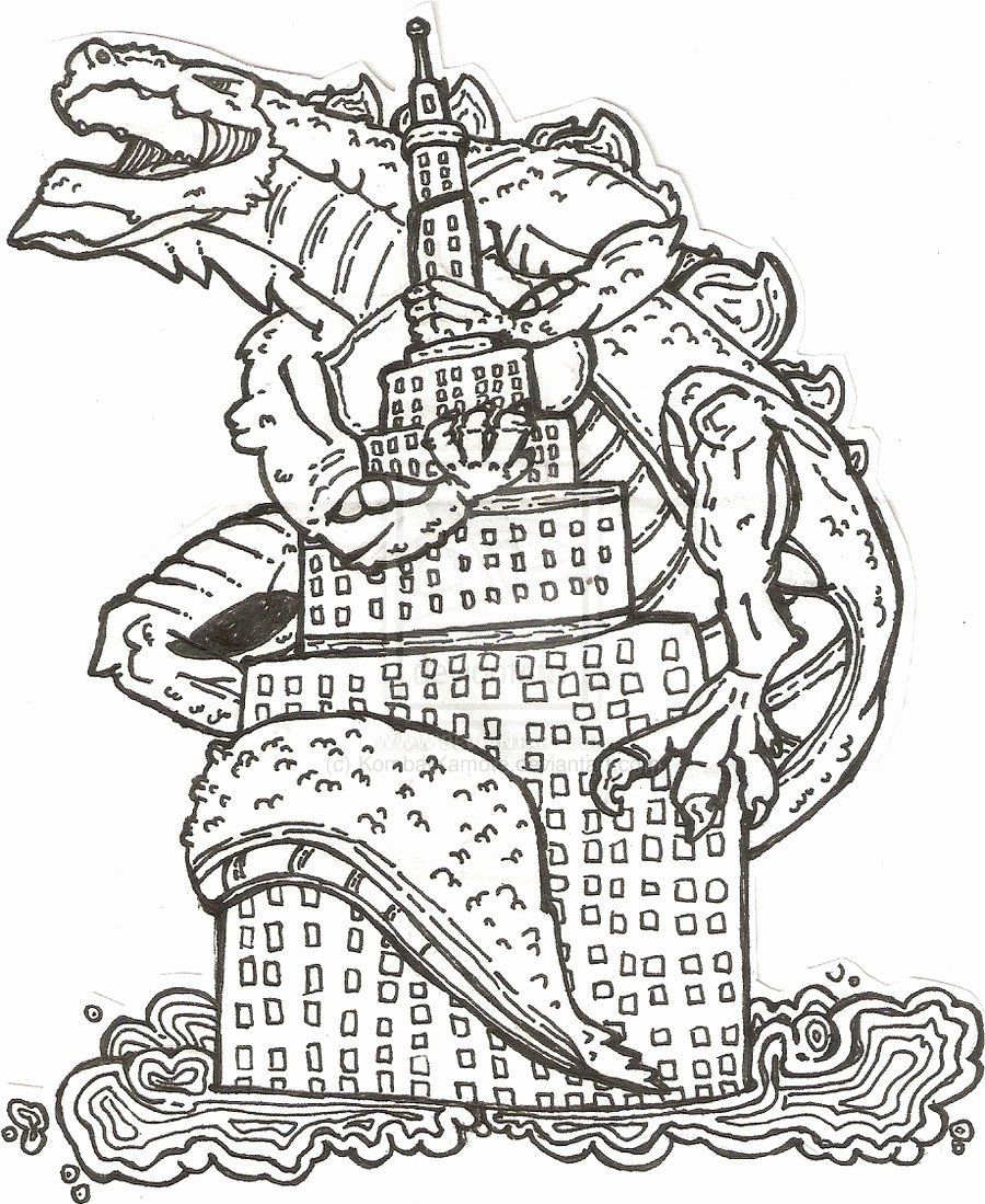 Free Online Coloring Pages Adults Lovely Free Printable Godzilla Coloring Pages Download Fr In 2020 Monster Coloring Pages Bird Coloring Pages Christmas Coloring Pages