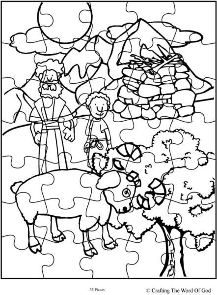 Abraham Offers Isaac Puzzle | Paper craftsاعمال بالورق طباعة ...