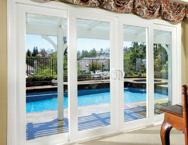 Exterior 4 Panel Sliding Glass Door Malibu Sliding Vinyl Patio Doors Hawaii Residents Cli Sliding French Doors Double Sliding Patio Doors French Doors Patio