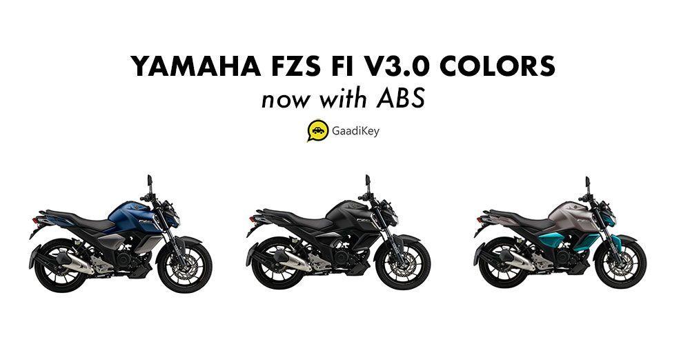 2019 Yamaha Fzs V3 0 Colors Cyan Blue Matt Blue Matt Black Fi Abs Matt And Blue Cyan Blue Yamaha