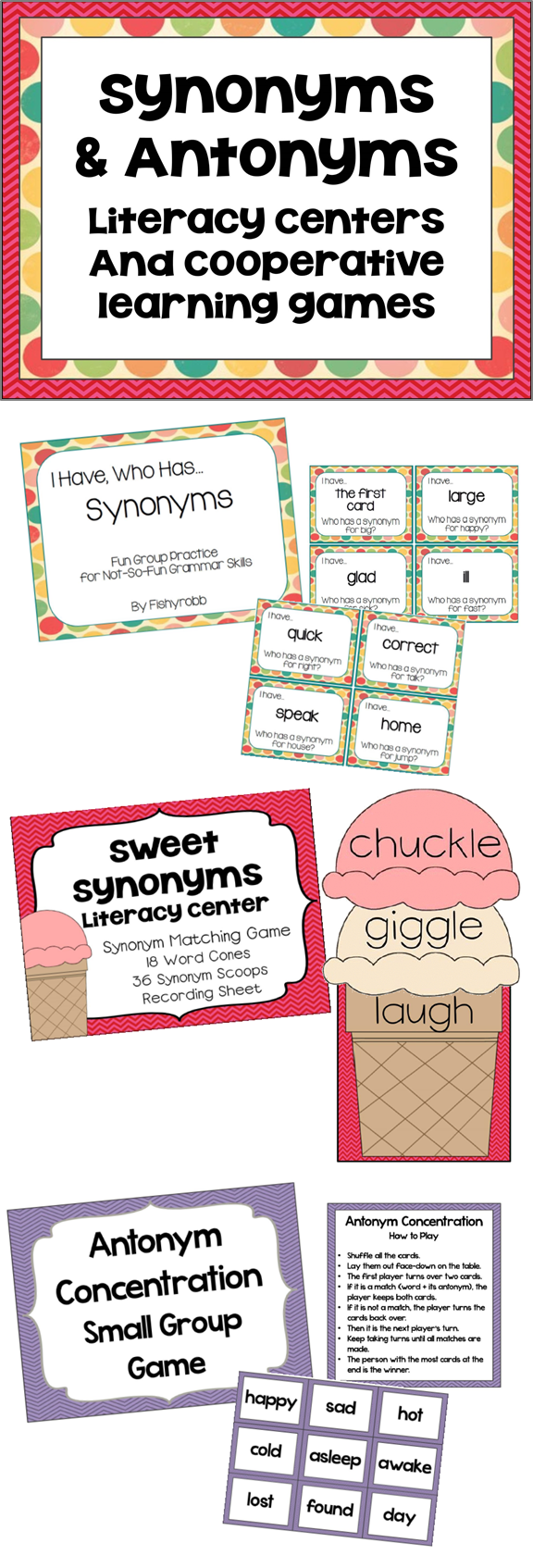 Synonyms and antonyms activities games and centers cooperative synonyms and antonyms activities games and centers biocorpaavc