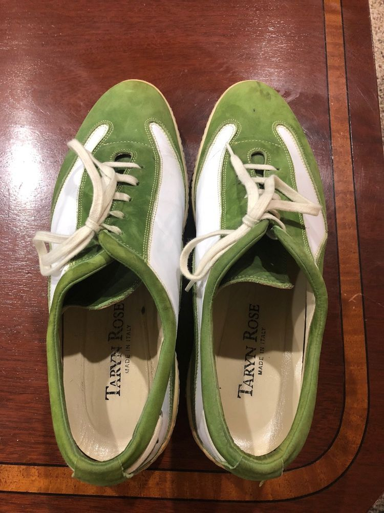 5abf47aa35 Taryn Rose Mens Shoes Casual Size 43.5 Used Green and White  fashion   clothing  shoes  accessories  mensshoes  dressshoes (ebay link)