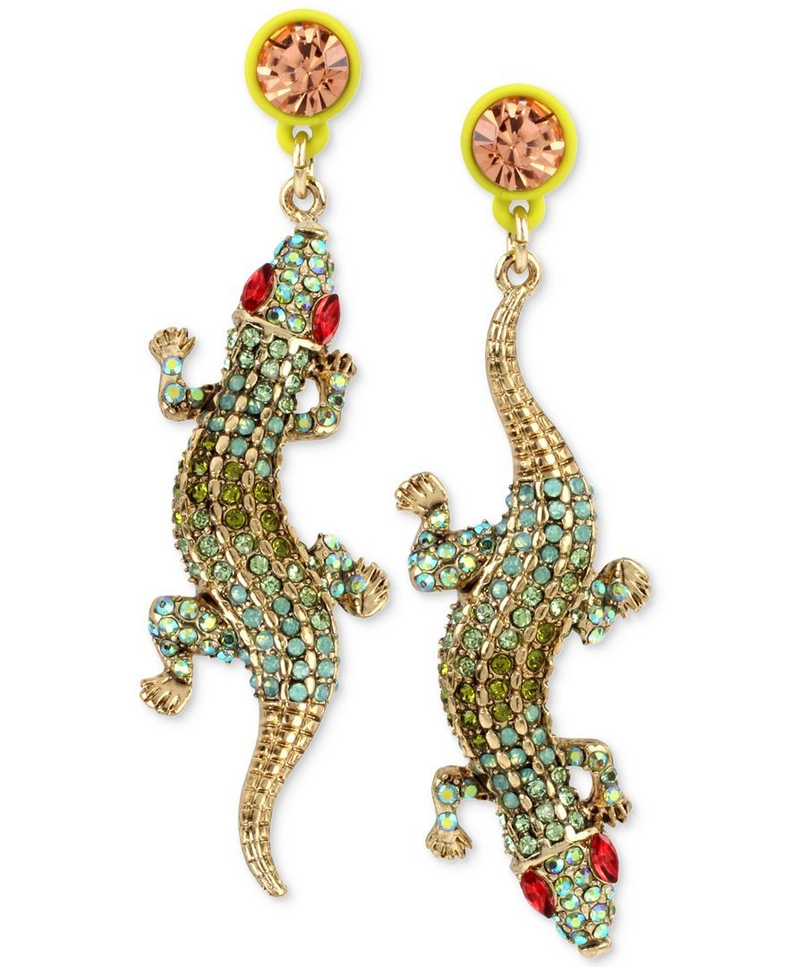 Betsey Johnson Alligator Stud Earrings