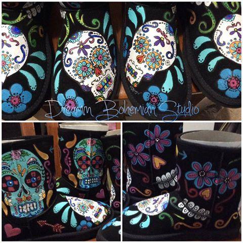 Bottes Ugg peint sucre et de personnalisé avec Crânes Crânes de sucre et mon populaire b5c7c42 - freemetalalbums.info