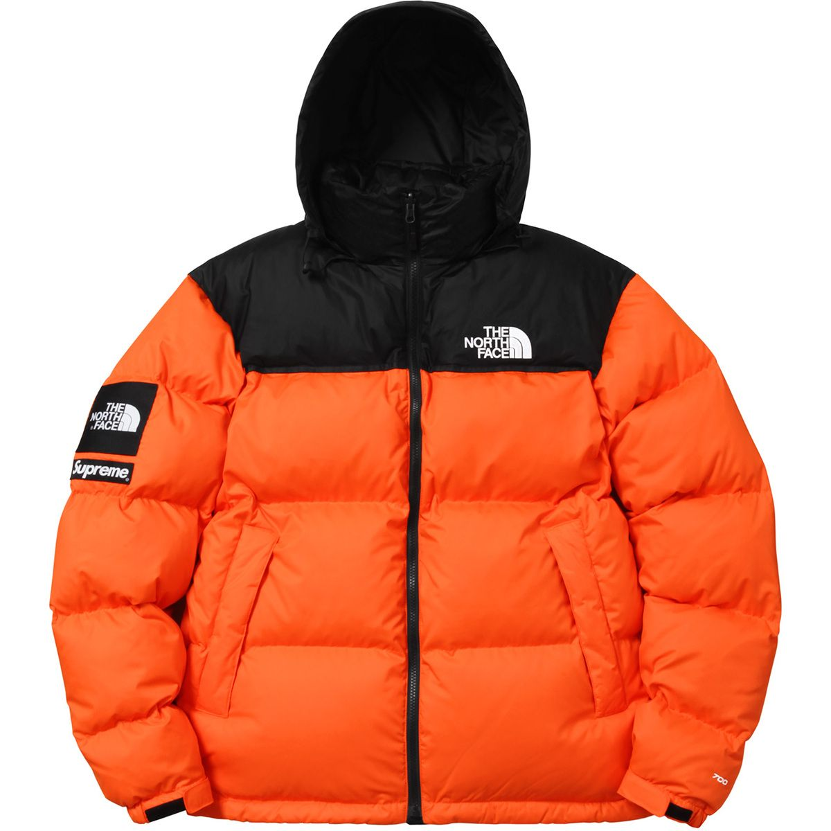 1688bd680142 Supreme Orange North Face Jacket
