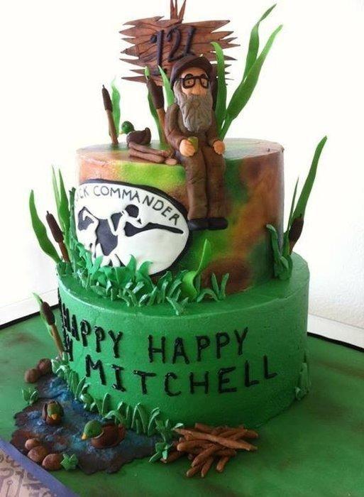 Happy happy happy duck dynasty birthday cake 2 Cakes Fishing