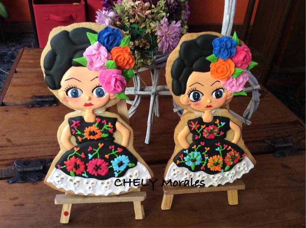 Tehuanas!!! | Galletas de monitas y vestidos | Pinterest | Galleta ...