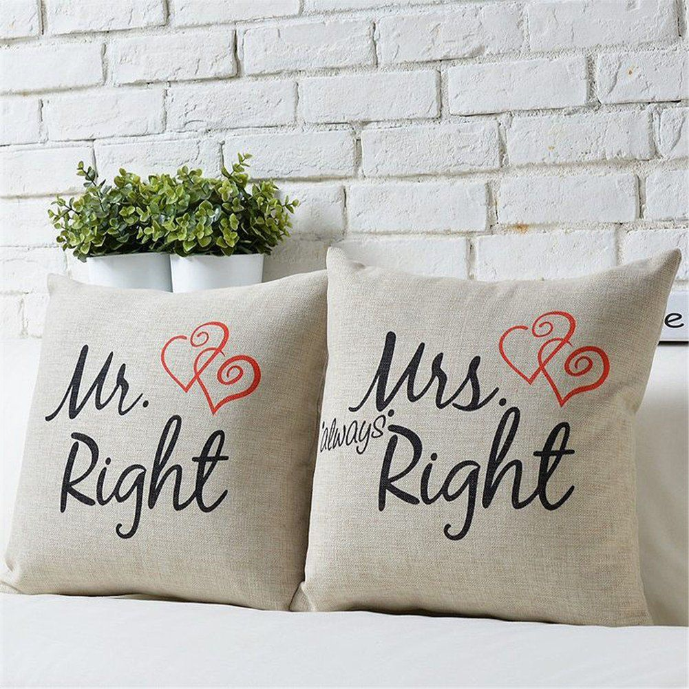 Mr Right Mrs Always Right Liebhaber Hochzeit Kissen Cidbest