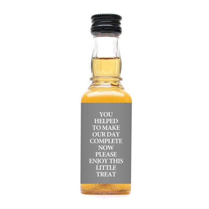 50 Custom Color Jack Daniels Mini Bottle Labels Wedding Favors Thank ...