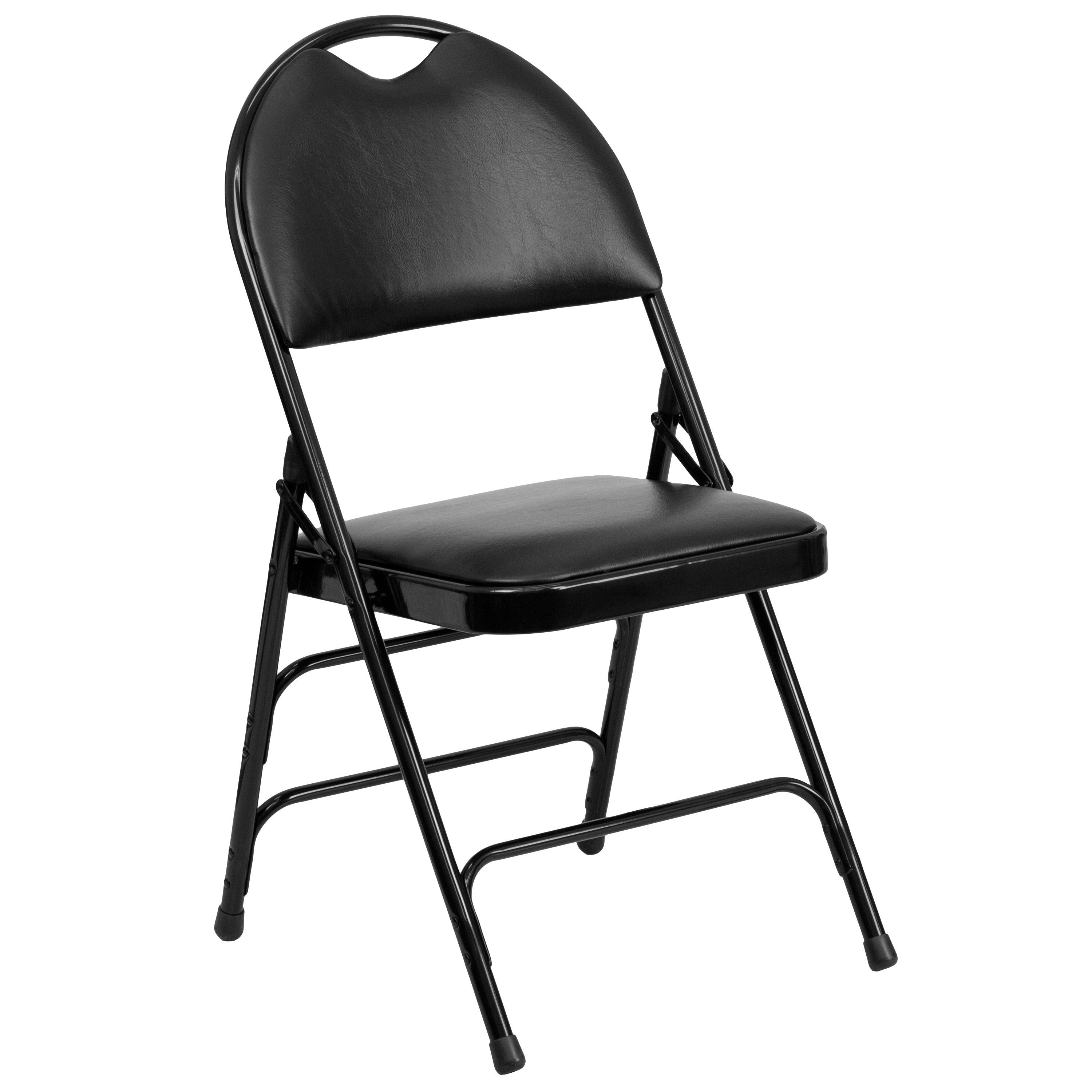 Holly Black Folding Chairs with Handle Grip Holly Black Folding