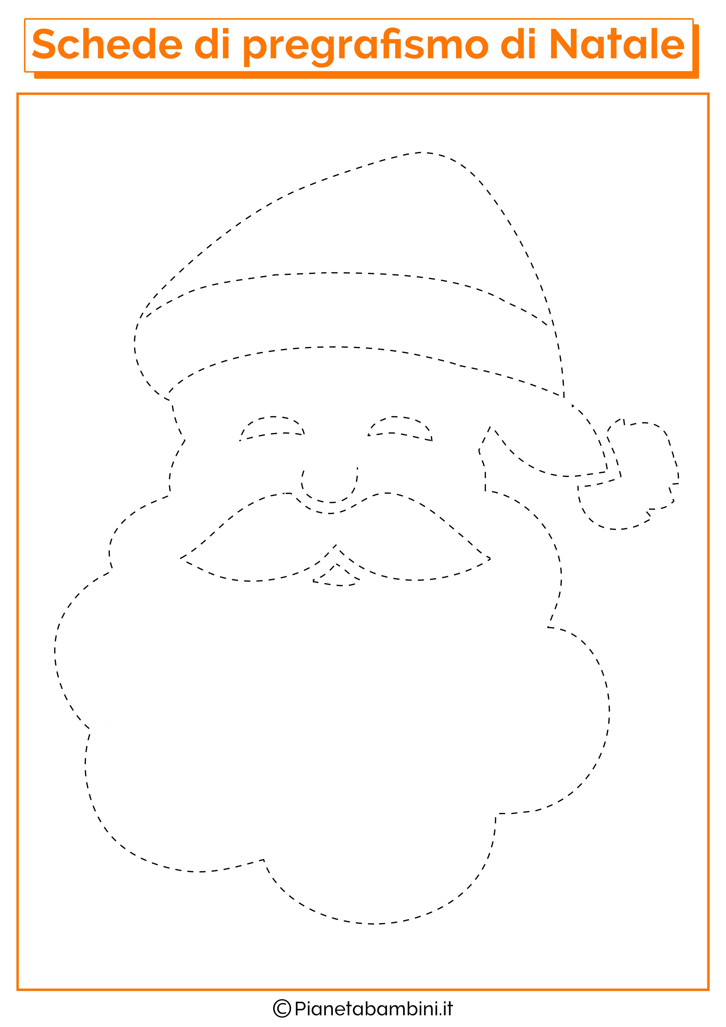 Schede Di Pregrafismo Di Natale Per La Scuola Dell