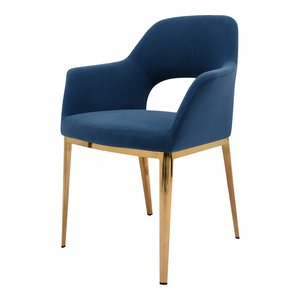 Carmel Dining Chair Blue Velvet Products Moe S Wholesale Upholstered Dining Chairs Dining Chairs Furniture