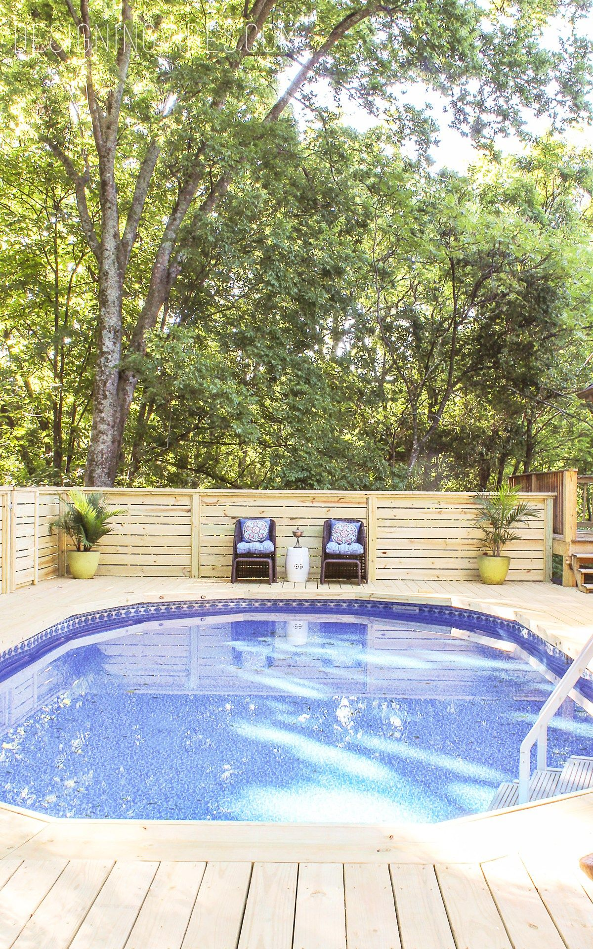 How to make an above ground pool look inground diy pool - Luxury above ground pools ...