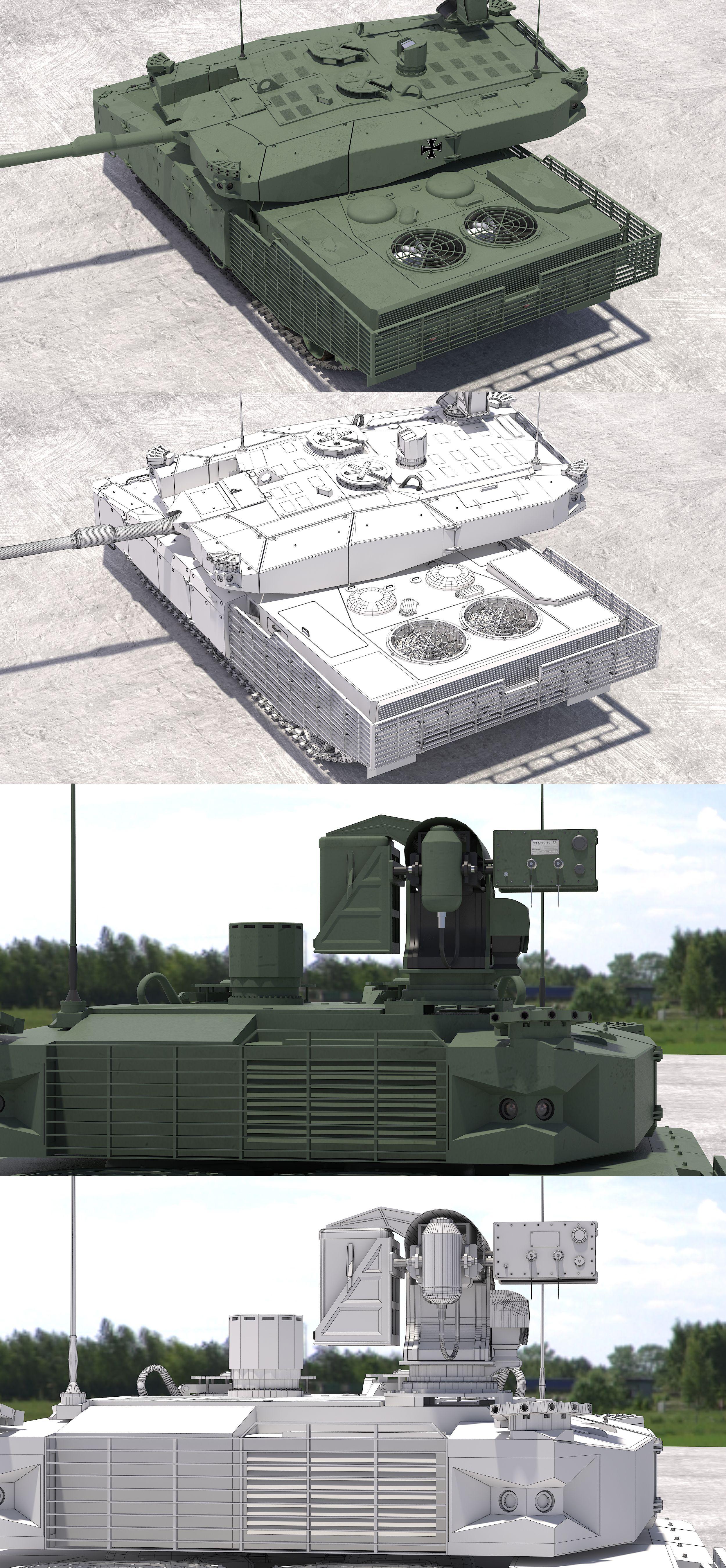 Leopard 2 Mbt Revolution Green Nato 3dmodel 3dartist Tank