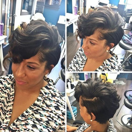 Short Hairstyles For Black Women Hair Pinterest Short