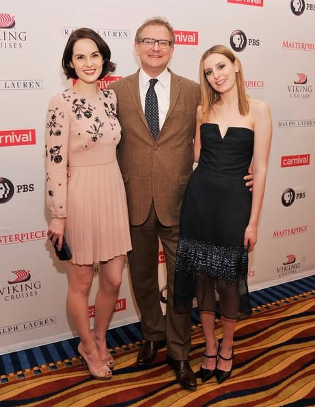 downton abbey: lady mary, lord grantham and lady edith