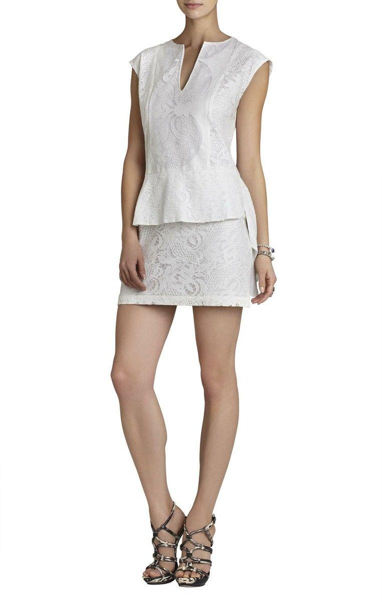 BCBG Max Azria  Isabel Draped-Side Peplum Dress