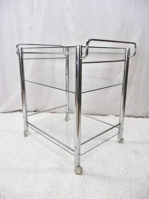 Chrome Bar Serving Cart