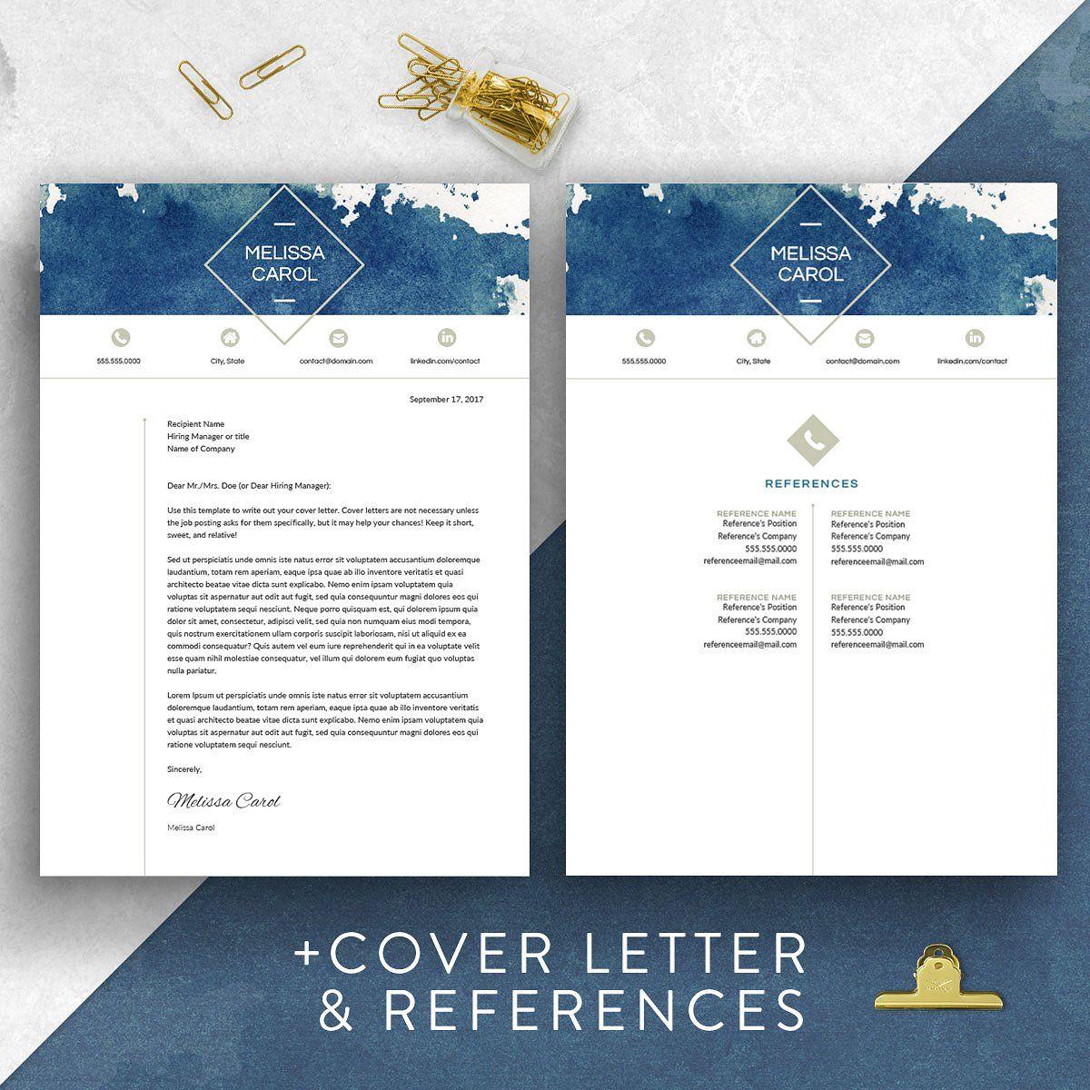 Modern Resume Template Word Resume template word, Modern