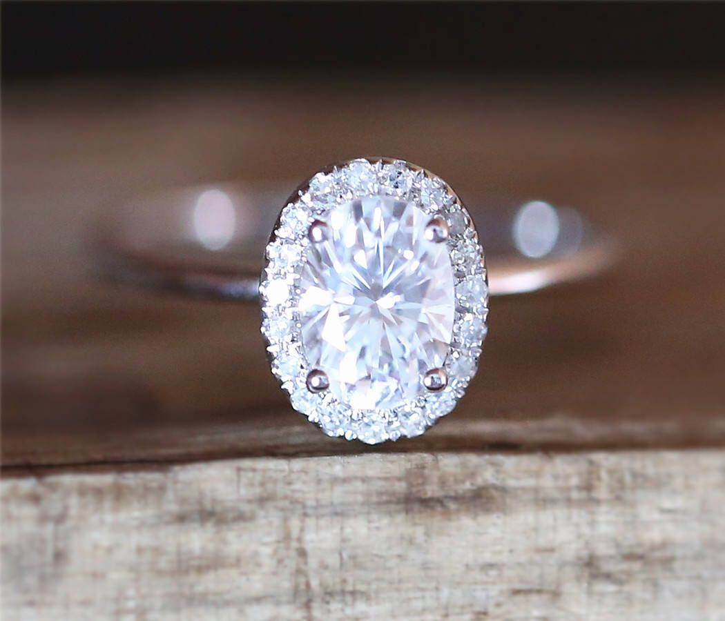 Cuc forever one moissanite engagement ring mm oval cut brilliant