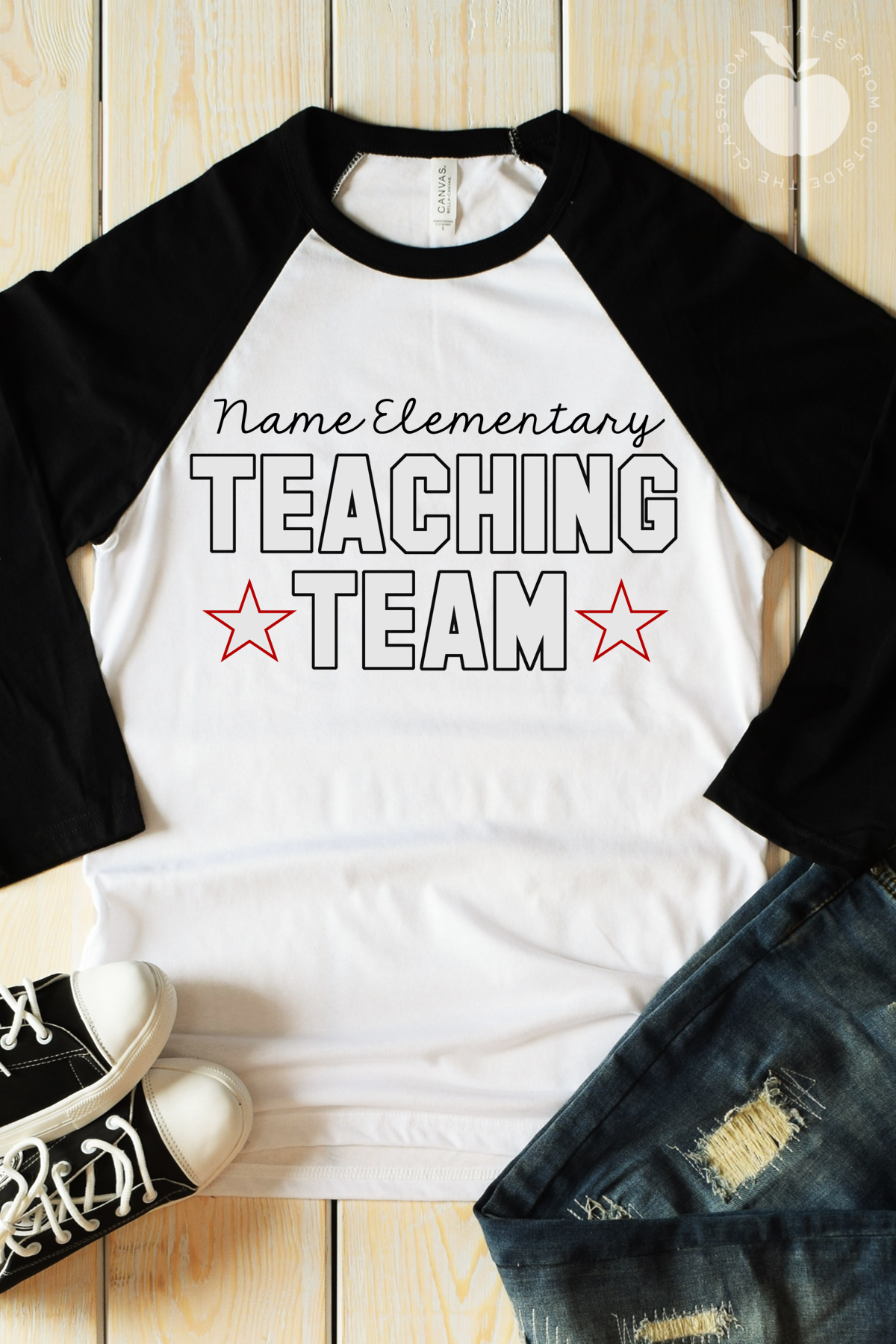 48744848 These custom teaching team raglans will be a new favorite teacher tee! With  3/4 sleeves these t-shirts will be perfect through fall and spring.