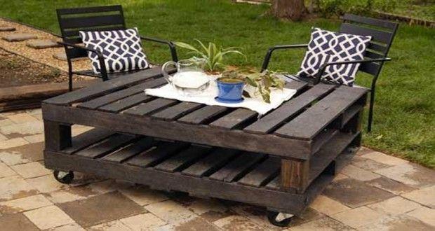 Faire un salon de jardin en palette   caisses en bois ...