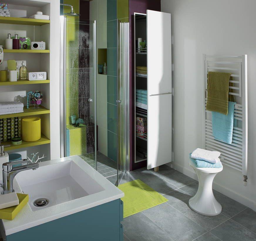 Une salle de bains optimis e et rang e salle de bains for Decoration interieur salle de bain