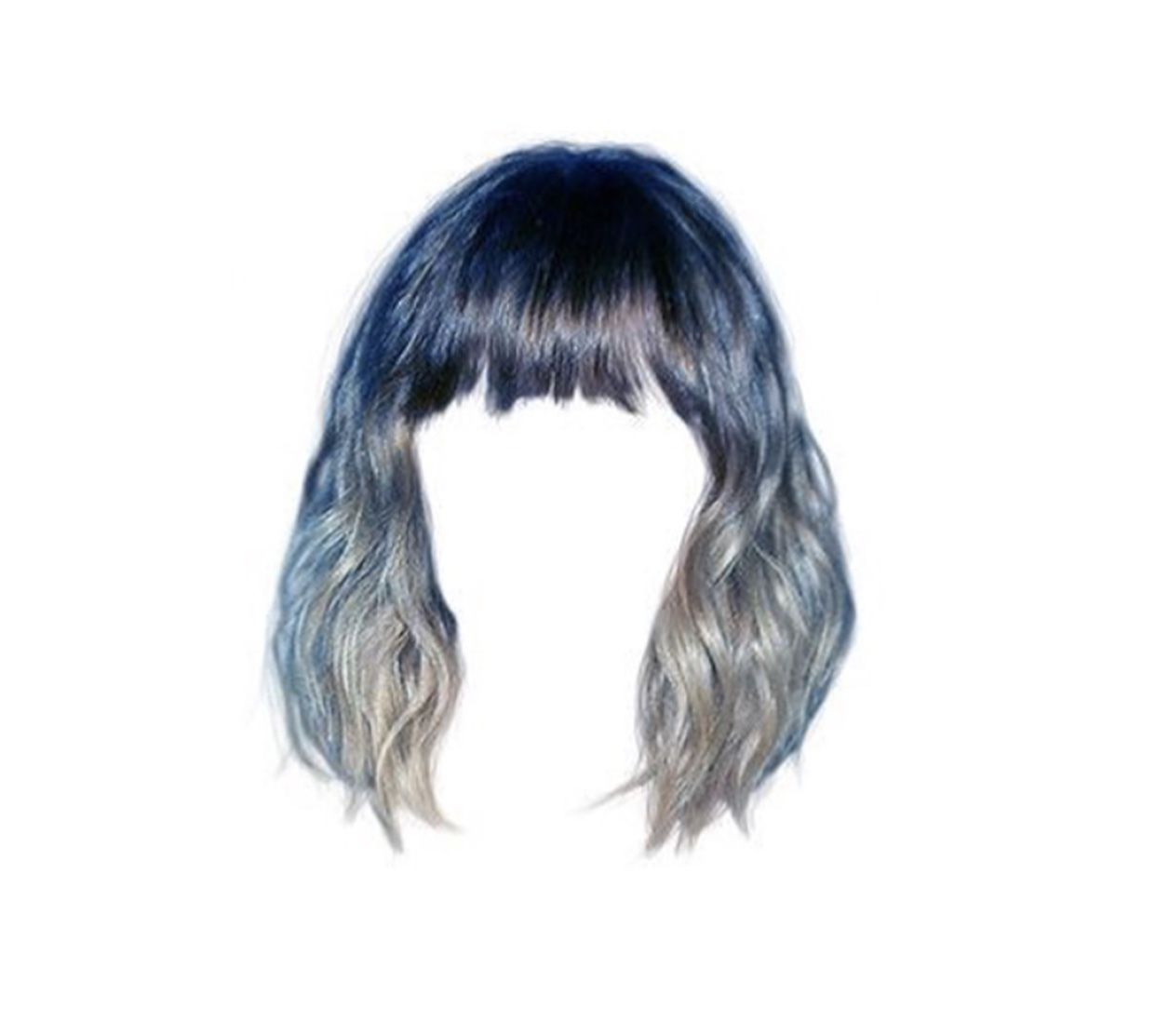 Blue Grey Polyvore Moodboard Filler Hair Wig Hair Png How To Draw Hair Hair Reference
