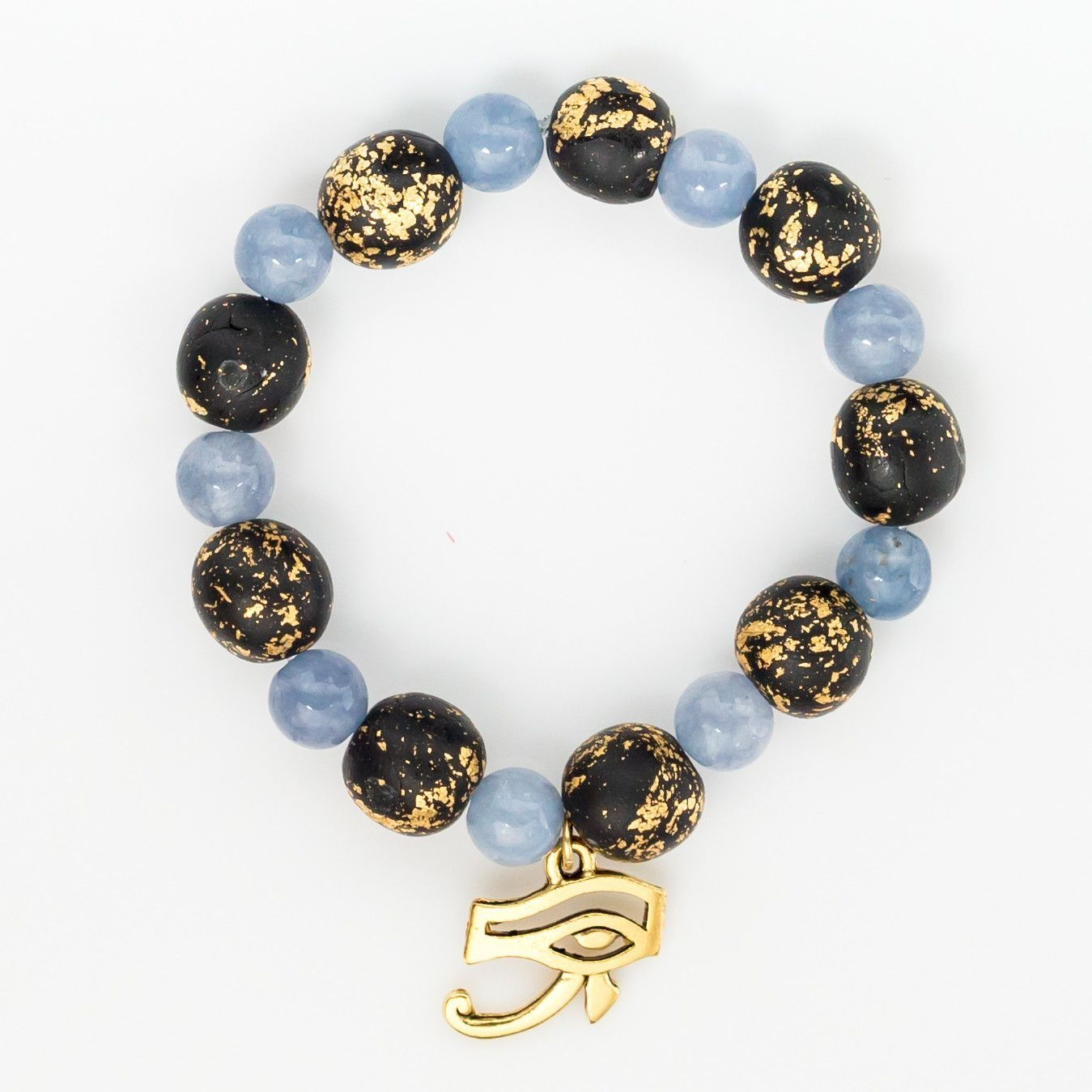 Aquamarine Eye Of Horus Bracelet Protection Eye Of Horus Bracelets Jewelry