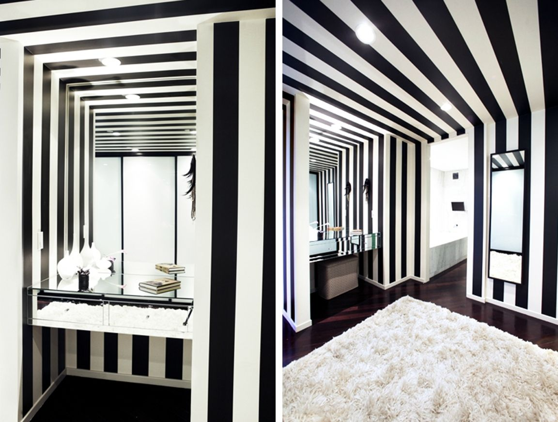 2011 10 Bathroom Design Small Bathroom Design Striped Walls