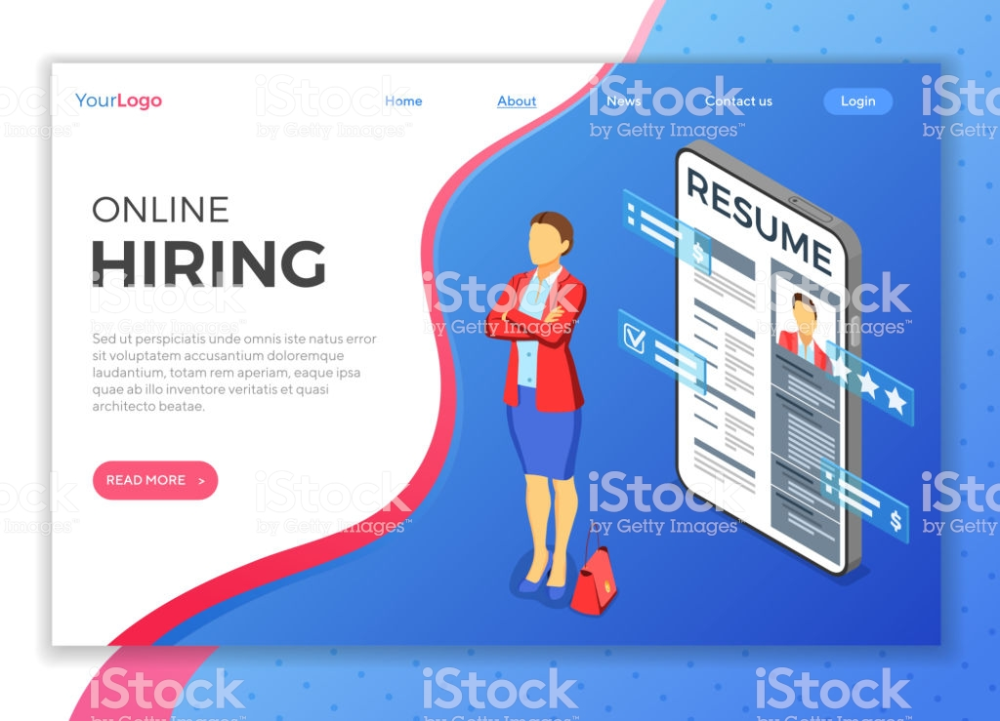 Isometric Employment Recruitment And Hiring Concept Job Agency Job Agency Isometric Concept