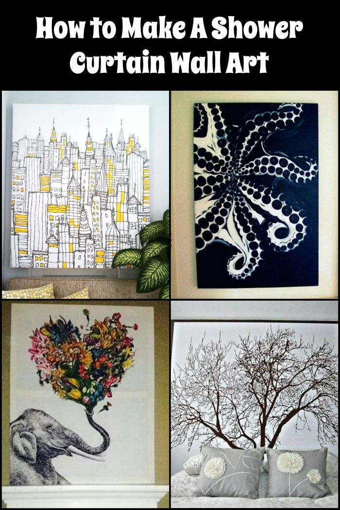 how to make a shower curtain wall art