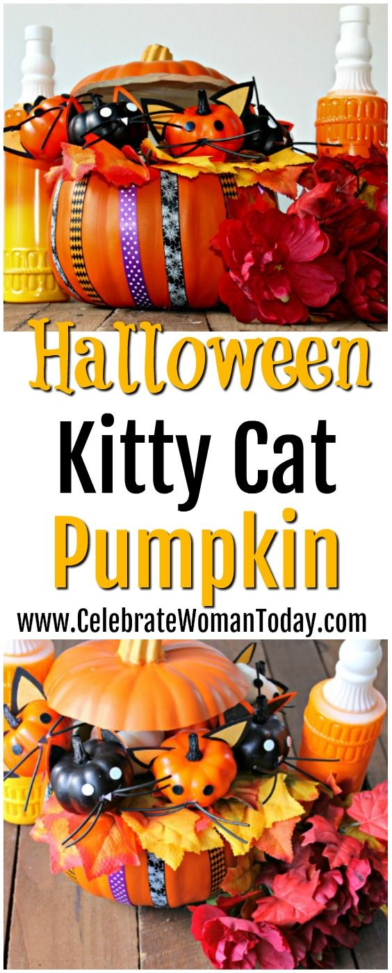 Halloween Kitty Cat Pumpkin Craft Recipe (With images