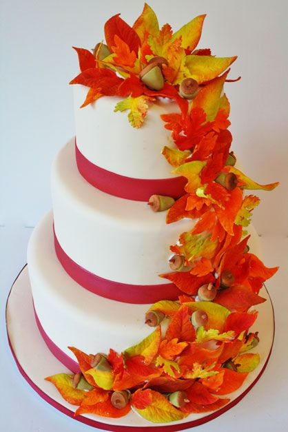 Wedding-Cakes-New-Jersey-Fall-Leaves-Custom-Cakes.jpg 418×627 pixels
