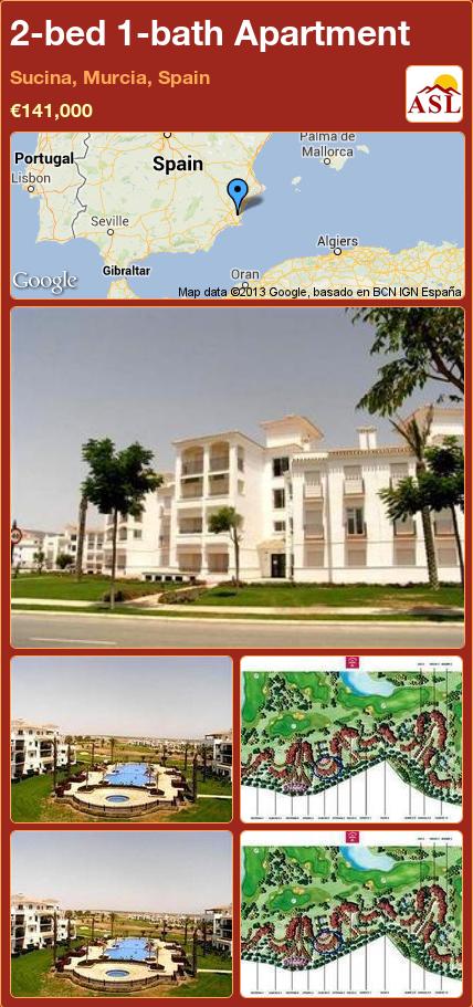 2-bed 1-bath Apartment in Sucina, Murcia, Spain ►€141,000 #PropertyForSaleInSpain